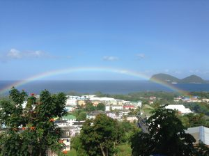 rainbow and view